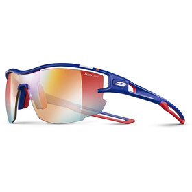 Julbo Aero Zebra Light Fire+ Clear Sunglasses Blue/Red-Multilayer Red